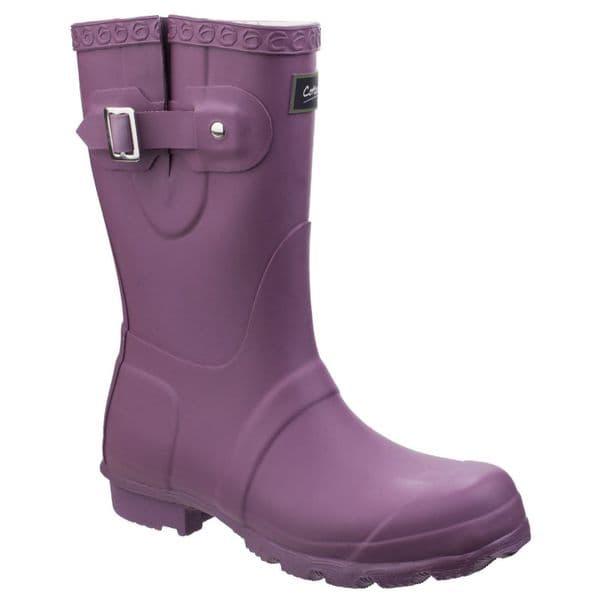 Cotswold Windsor Plain Rubber Wellingtons Purple